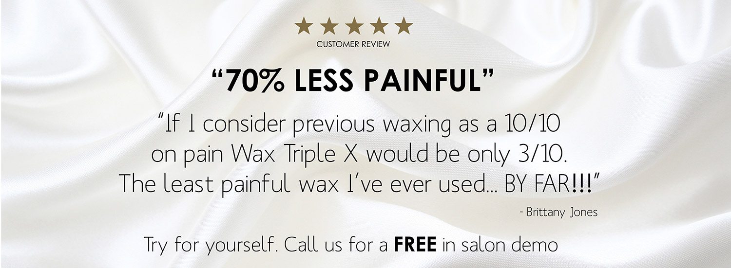 Less painful waxing treatment